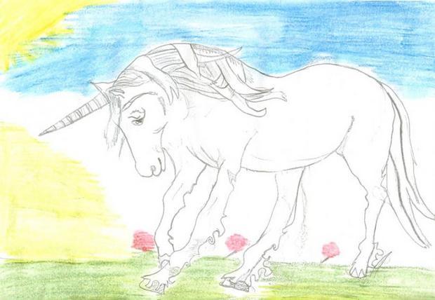 dessin la licorne de carmen - Comment Dessiner Une Licorne