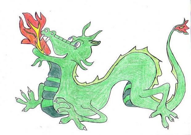 Dessin : Le dragon de Thomas