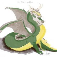 Dessin d'enfant : Le dragon de Lea