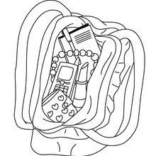 Coloriage : Le sac à main de maman