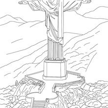 Coloriage : Statue du Corcovado
