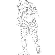 Coloriage : Neymar