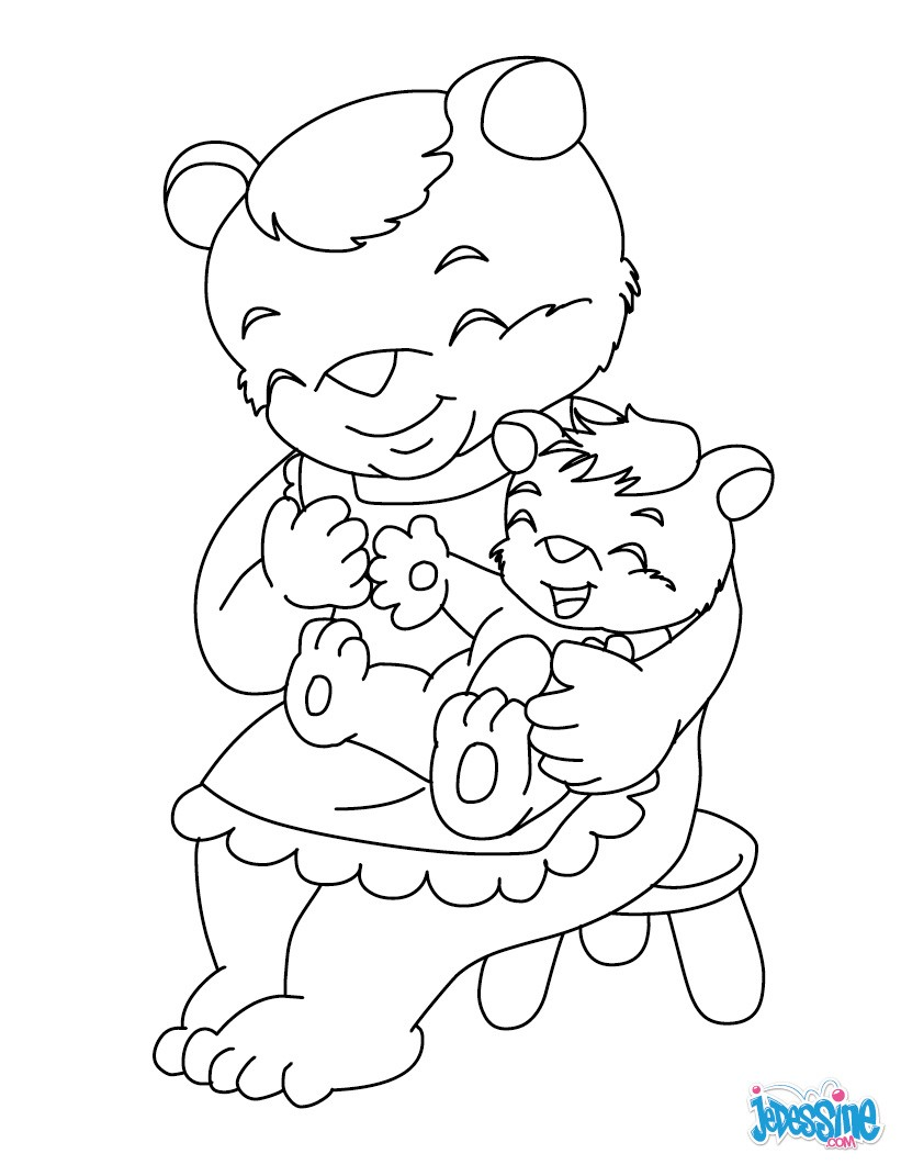 Coloriage : Maman ours