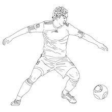 Coloriage : Mesut Ozil
