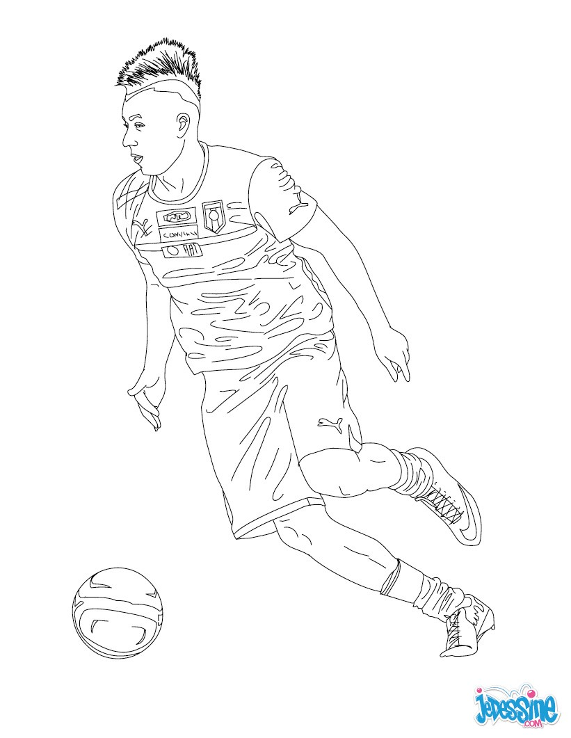Coloriages stephan el shaarawy - Image de joueur de foot a imprimer ...