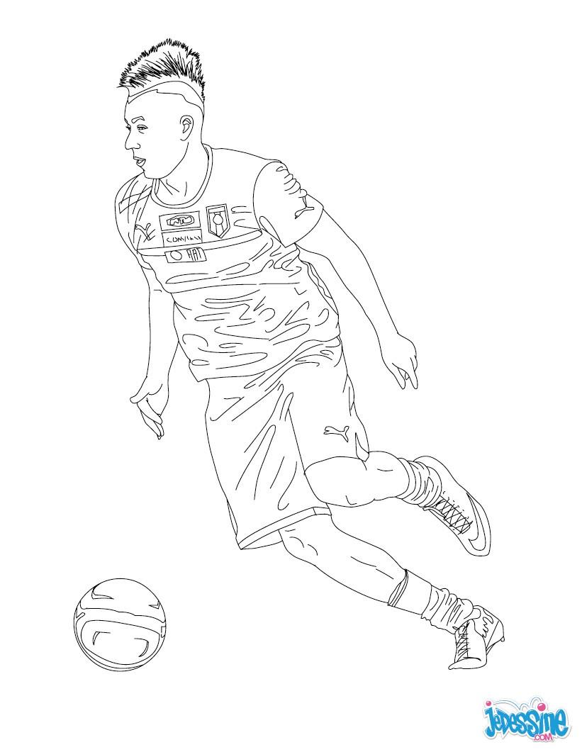 Coloriages stephan el shaarawy - Dessin de joueur de foot a imprimer ...