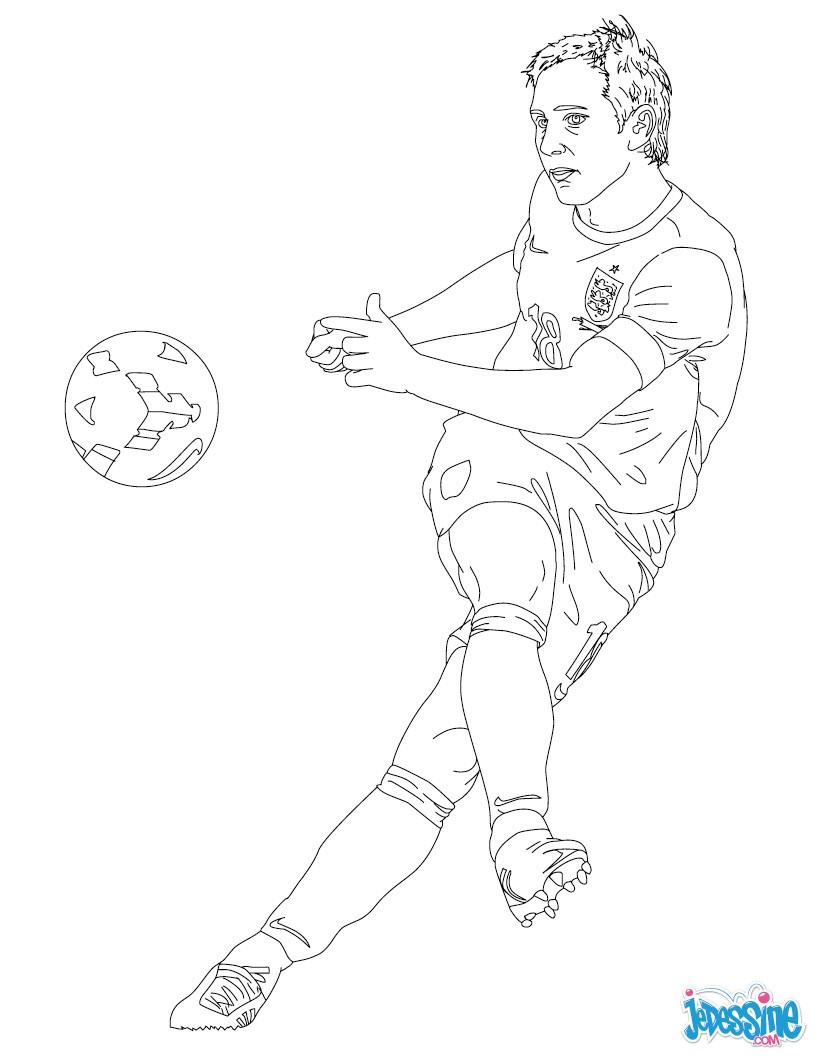 Coloriage Joueur De Foot Hugo Lloris.Coloriages Hugo Lloris Fr Hellokids Com