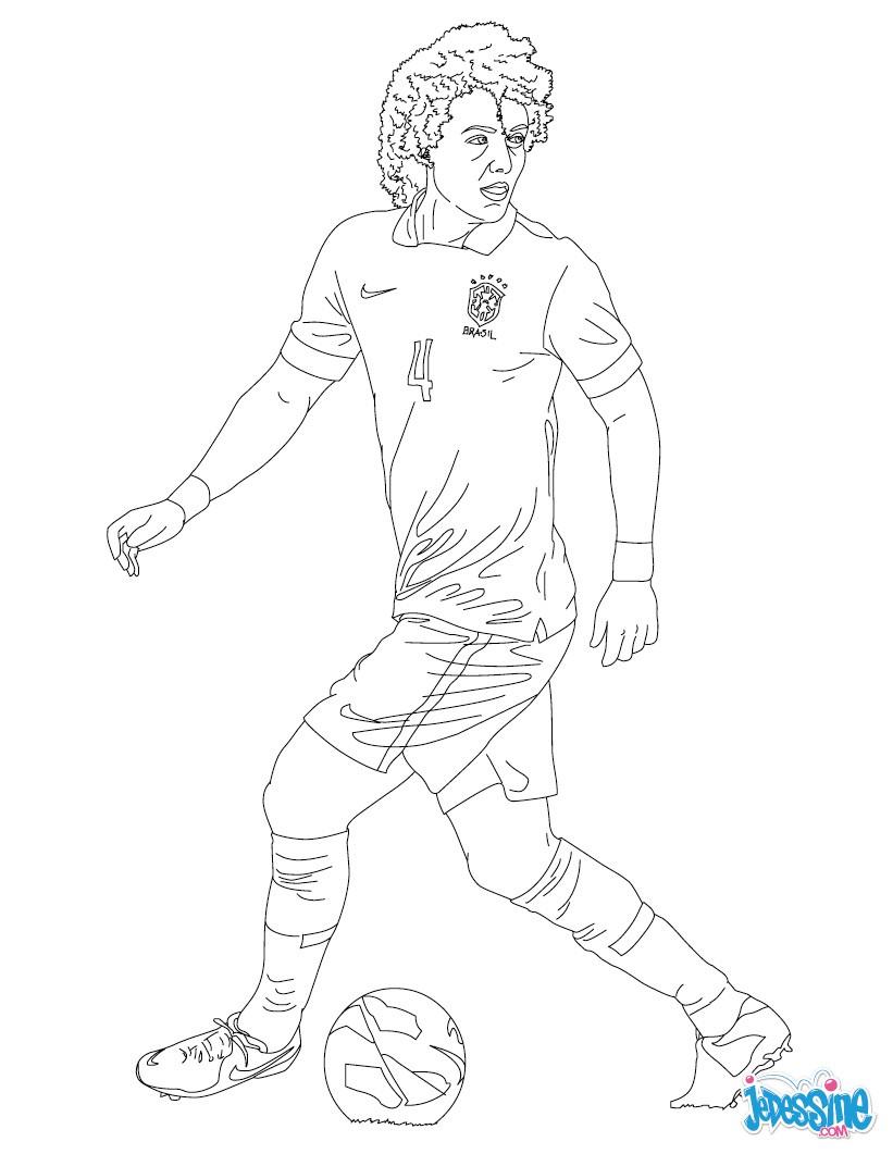 Coloriage David Luiz