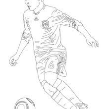 Coloriage : Andres Iniesta