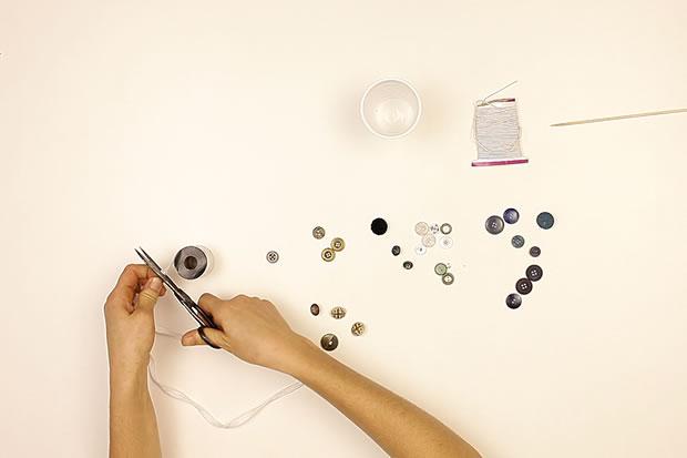Fabriquer un collier en boutons