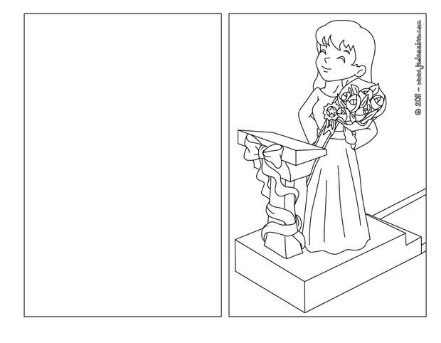 Coloriages carte colorier bouquet pour maman - Carte anniversaire coloriage ...