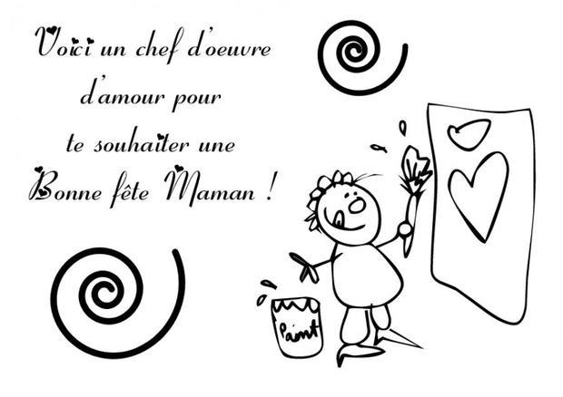 Coloriage A Imprimer Amour.Coloriages Coloriage Fete Des Meres Le Chef D Oeuvre D