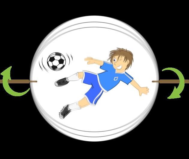 Activites Manuelles - Le thaumatrope de foot
