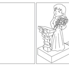 Coloriage : Carte à colorier bouquet pour maman