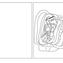 Coloriage : Carte à colorier maman sac à main