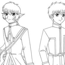 Coloriage des chevaliers des Mew Mew Power