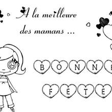 Coloriage Fête des mères: pour la meilleure des mamans!