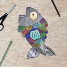 Fiche bricolage : Les poissons d'Avril en aluminium