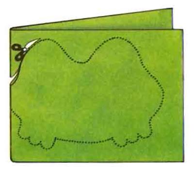 Découper Carte-Grenouille