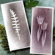 Cartes à motifs de plantes pressées
