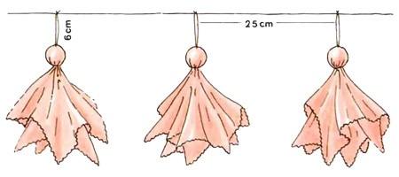 Ballerines en serviettes