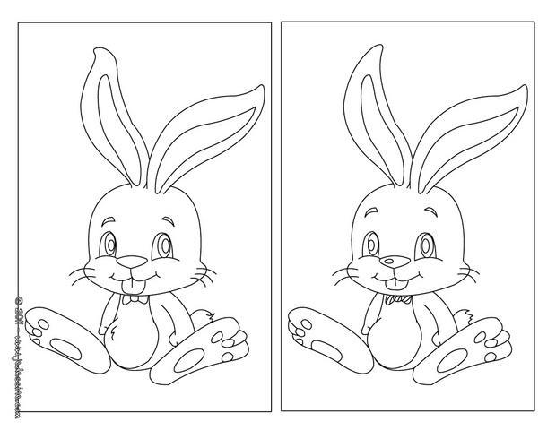 Jeux de petit lapin de pâques - fr.hellokids.com