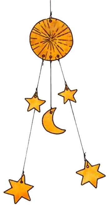 Mobile : Soleil, Lune, Étoiles - Bricolage
