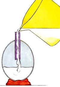 Oeufs de Pâques lestés - plâtre - BRICOLAGE PAQUES - Les oeufs de Pâques lestés