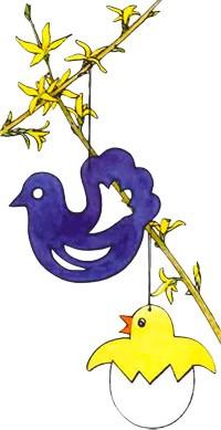 Fiche bricolage: Poussins et Oiseaux - Activités - BRICOLAGE PAQUES - Poussins et oiseaux