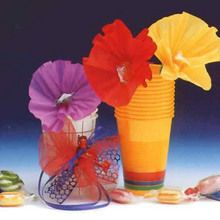 Fleur bonbon en papier crépon