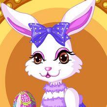 Habille le lapin pour Pâques