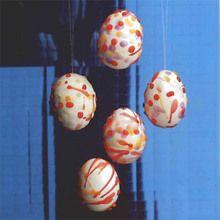 Oeufs de Pâques bariolés