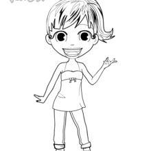 Coloriage : Audrey est contente