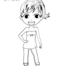Coloriage : Audrey, l'animatrice de Yodicity