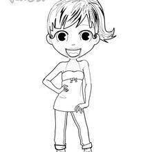 Coloriage : Audrey prend la pose