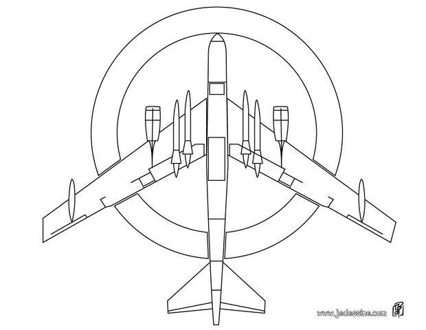 Coloriages avion militaire - Avion coloriage ...