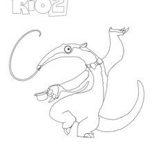 Coloriage : Charlie, le fourmilier de RIO 2