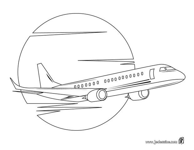 Pin coloriage avion jet on pinterest - Coloriage avion ...