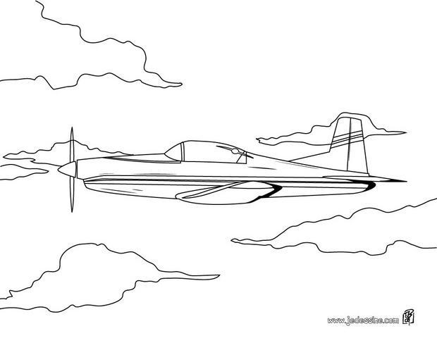 Coloriages coloriage d 39 un avion de voltige - Dessin d un avion ...