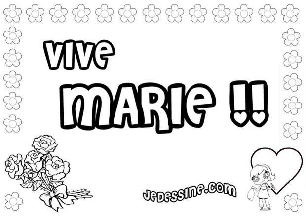 Coloriages marie - Coloriage manon ...