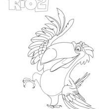 Coloriage : Rafael, le toucan de RIO 2
