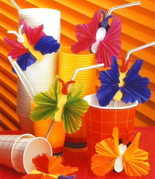 Berühmt Activités manuelles les pailles papillon - fr.hellokids.com NK46