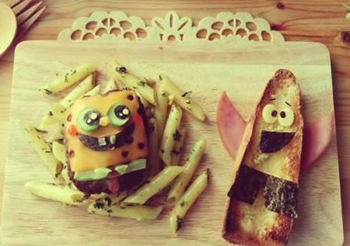 Recette : Hamburger BOB L'EPONGE et Patrick Toasté