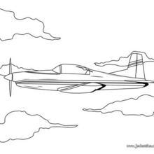Coloriage d'un avion de voltige