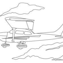 Coloriage d'un petit avion à moteur