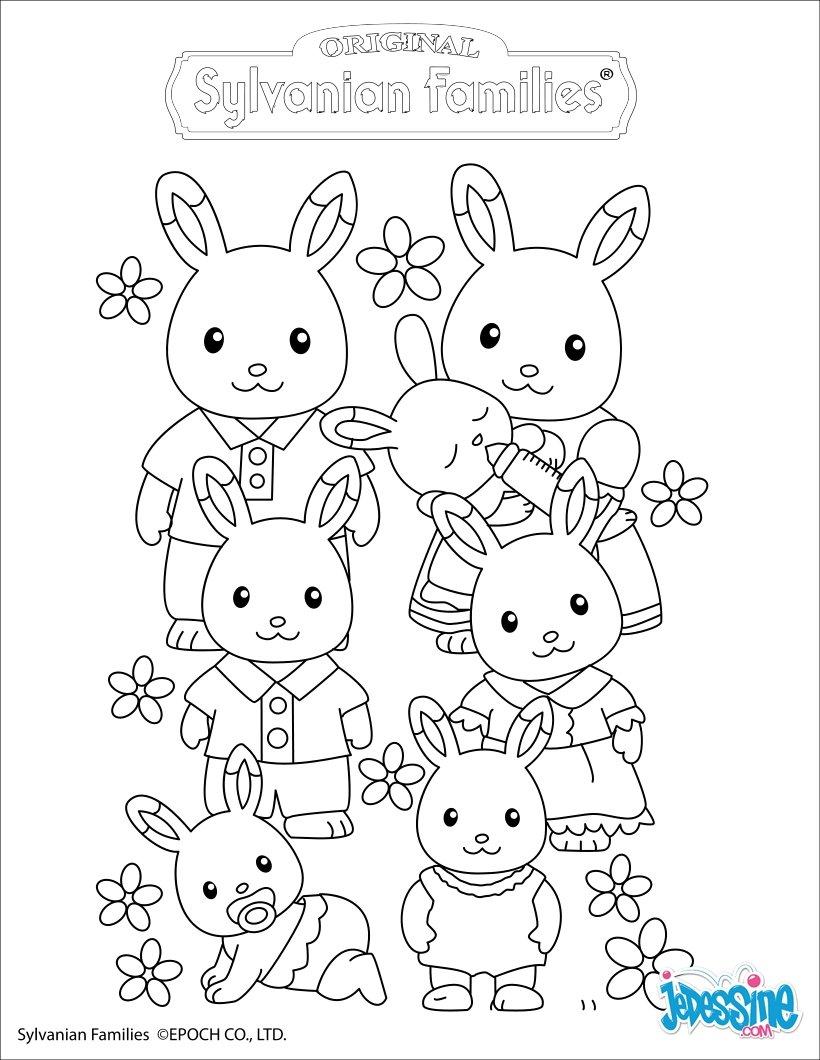 Coloriages la famille lapin - Coloriage de la famille ...