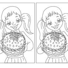 Jeu des différences : Le gâteau de Maman
