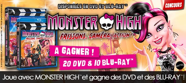 plein de cadeaux gagner monster high frissons cam ra action. Black Bedroom Furniture Sets. Home Design Ideas