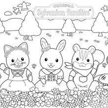 Coloriage : Les Sylvanians à Pâques