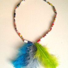 Le collier indien en perles de papier